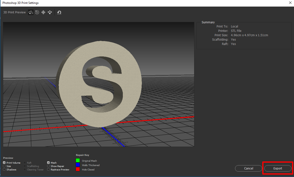 Create your 3D Printing Model with Adobe Photoshop CC | Ginkgo3D Blog