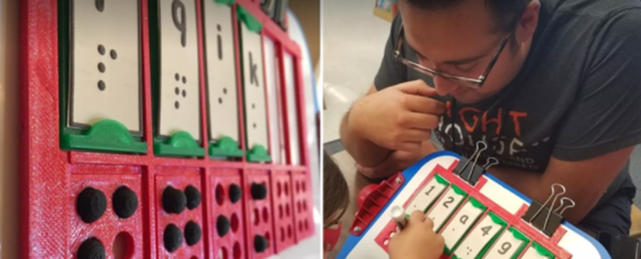 Education with 3D Printing for Visually Impaired